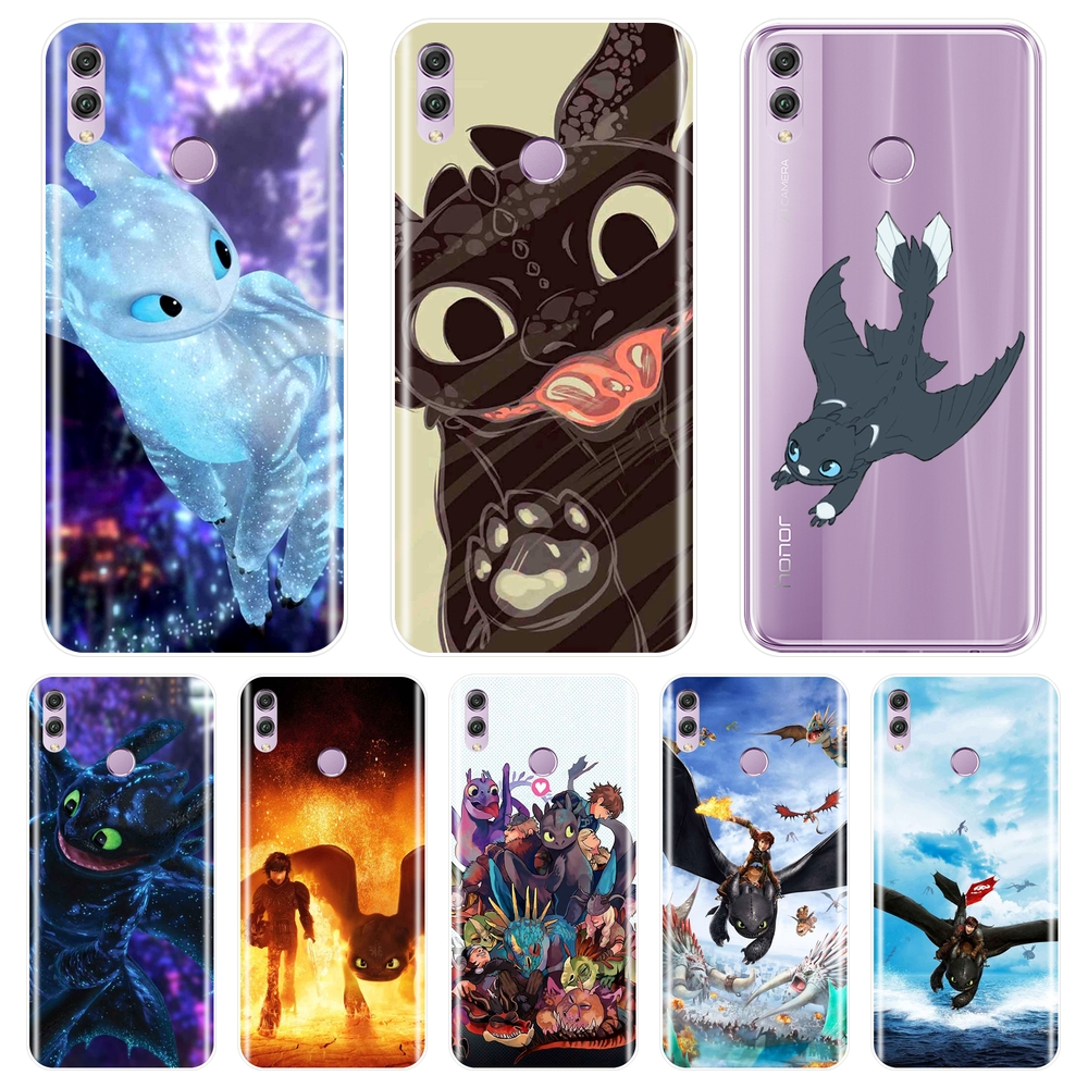 TPU Phone Case For Huawei <font><b>Honor</b></font> 7 8 <font><b>9</b></font> 10 <font><b>Lite</b></font> <font><b>Honor</b></font> 10 <font><b>9</b></font> 8 8X MAX 7 7S 7X 7A 7C Pro Silicone How To Train Your Dragon Back <font><b>Cover</b></font> image
