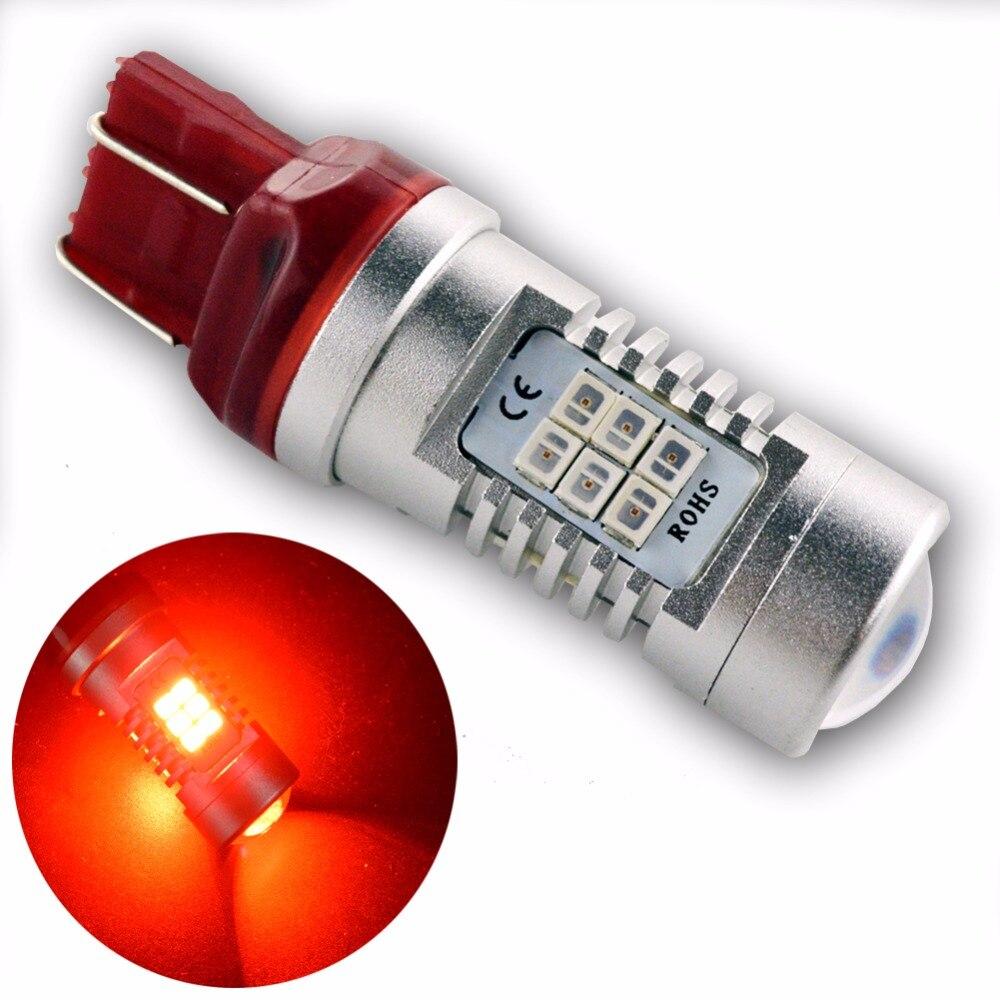 1x 5W T20 W21/5W W21W 7440 7443 Car LED Canbus Red amber White Daytime Running Lighting 12V 24V