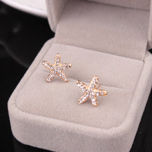 Rongqing 1pair cute ocean animal starfish earrings for women