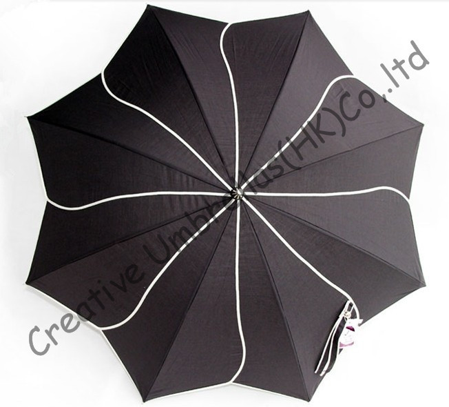 Lotus leaf umbrellas 100 sunscreen UPF 50 210T cotton long handle parasol ladies parasol rotate windmill