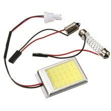 1 компл. Белый светодиод 24 SMD салона COB светодиодов Панель T10 COB чип 28-40 мм гирлянда + 3 адаптер Авто Панель S 12 В