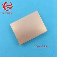Bakır kaplı laminat çift taraflı plaka CCL 10x15cm 1.5mm FR4 evrensel kurulu uygulama PCB DIY kiti 100*150*1.5mm