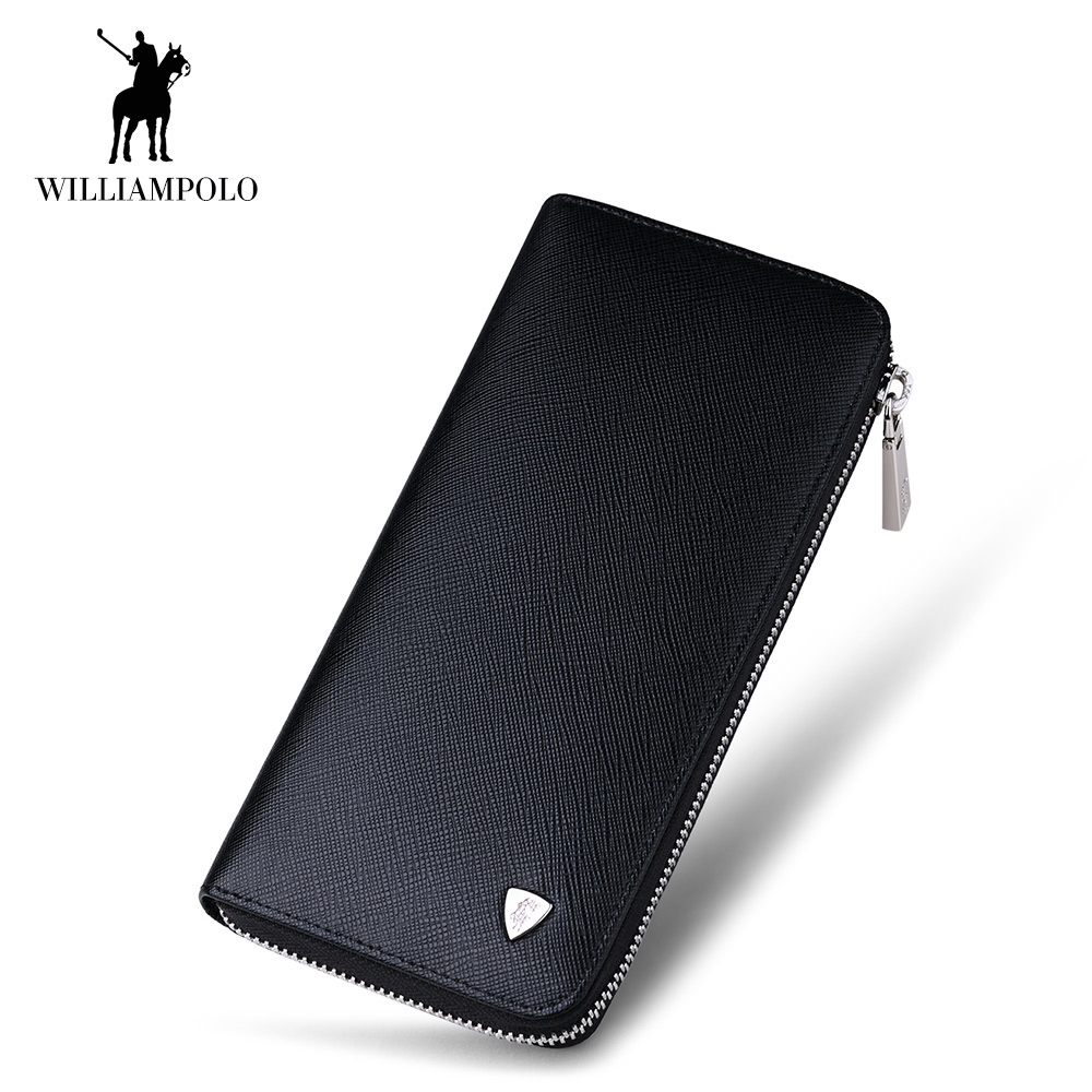 2018 men long genuine leather purse clutches handbags luxury brand Business zipper wallet Cow Leather Card Holder wallet male sammons brand new design fashion genuine cow real leather men long zipper clutches cards phone holder wallet