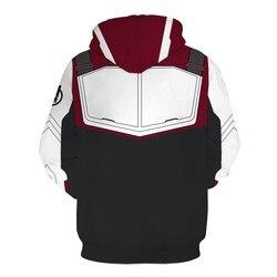 2019 Marvel The Avengers 4 Endgame Quantum Realm Cosplay Costume Hoodies Men Hooded Avengers Zipper End Game Sweatshirt Jacket 2