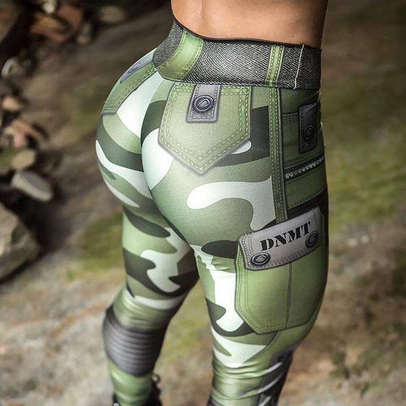 Nessaj High Waist Printed Pants Long Trousers Fashion Camouflage Women   Leggings   Push Up Jeggings Workout Girl   Leggings