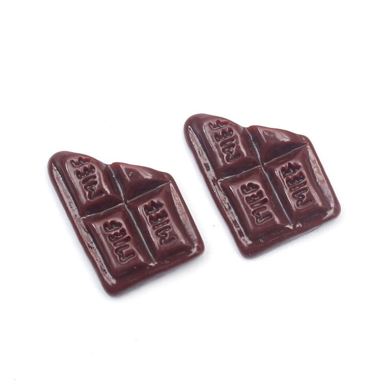 LF 20Pcs Mixed Resin Chocolate Decoration Crafts Flatback Cabochon Embellishments For Scrapbooking Kawaii Cute Diy Accessories in Embellishments from Home Garden