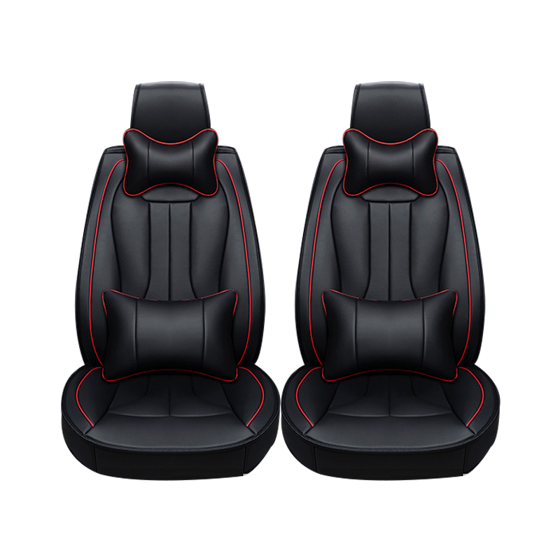 2 pcs Leather car seat covers For Volkswagen vw passat b5 b6 b7 polo 4 5 6 7 golf tiguan jetta touareg car accessories styling 2 x car decoration stickers car decals for volkswagen vw golf polo sagitar jetta tiguan gti
