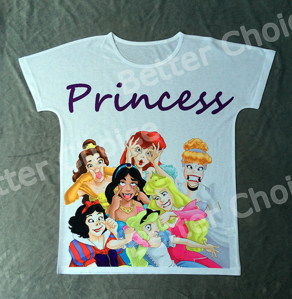 Track Ship+Vintage Retro Cool Rock&Roll Punk T-shirt Top Tee Funny Sweet Cute Seven Princess Grimace Smile Summer Party 0019