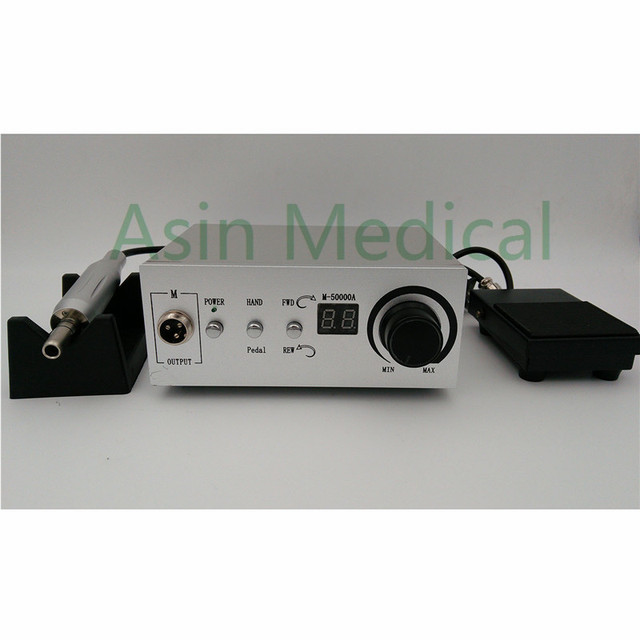 50,000 RPM E type handpiece Non-Carbon Brushless Aluminium Shell Dental Micromotor