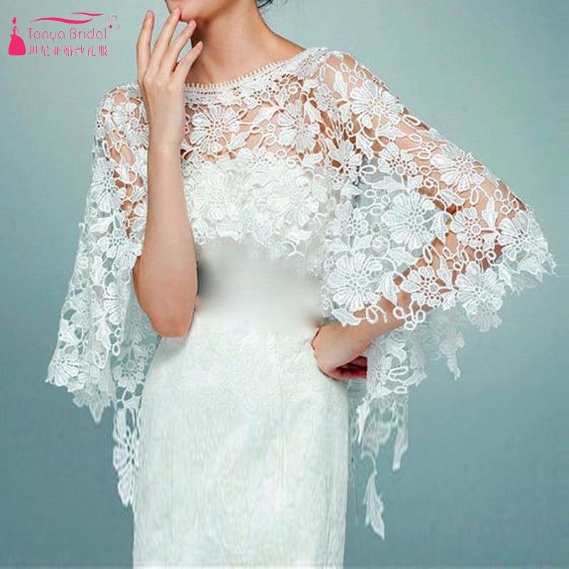 Lace Elegant Wedding Bolero Bridal Jacket Ivory Wedding