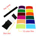 12 pieces color card for Strobist Flash Gel Filter Color Balance with rubber band ,diffuser Lighting Free shipping  j450