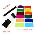 12 unidades carta de colores para Gel de Flash Strobist Filter Balance de Color con la goma, difusor j450 Encendiendo El Envío libre