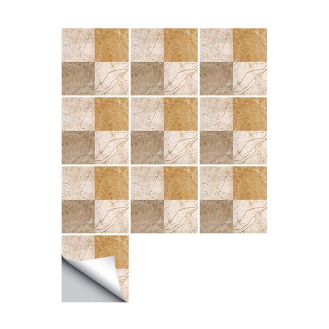 Retro Imitation Tile Wall Stickers Bathroom Kitchen Waterproof Tiles Home Decor Diy Removable Decals Adesivo