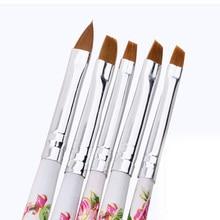 5pcs/set New Nail Brushes UV Gel Acrylic Nail Art Brush Pain