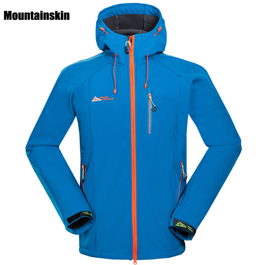Winter Spring Men Outdoor Waterproof Jacket Softshell WindStopper Sports Camping Hiking Coats Male Thermal Ski Clothing RM001 mens winter softshell pant waterproof trousers cycling skiing hiking camping pants men soft shell fleece thermal outdoor trouser