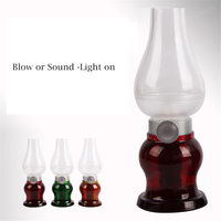 LED Bulb Table Lamp Usb Charging Dimmable LED Desk Light Night Light Sound&Blow Sensor Desk Lamps Night Lighting Gift Decoration