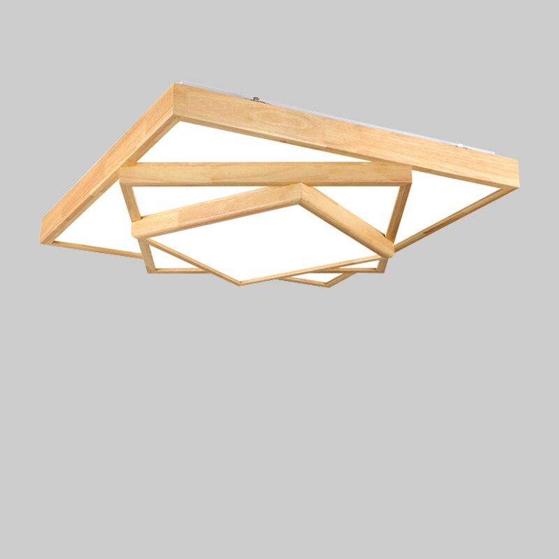 In Legno massello di illuminazione a LED a soffitto lampade a soffitto per il soggiorno lampadari A Soffitto per la sala moderna lampada da soffitto