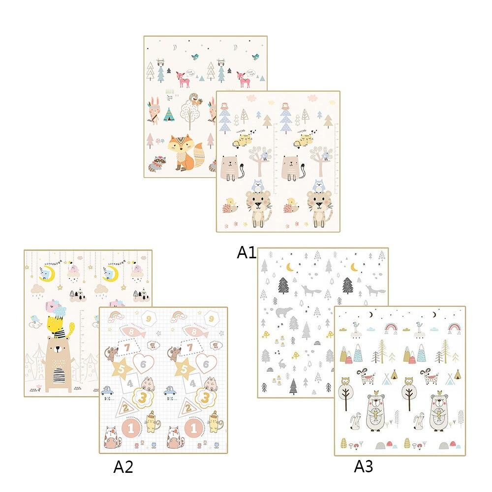 200 CM * 180 CM * 1 CM bébé Portable tapis de jeu pliant XPE ramper Pad maison en plein air pliant imperméable tapis de jeu de Puzzle - 2
