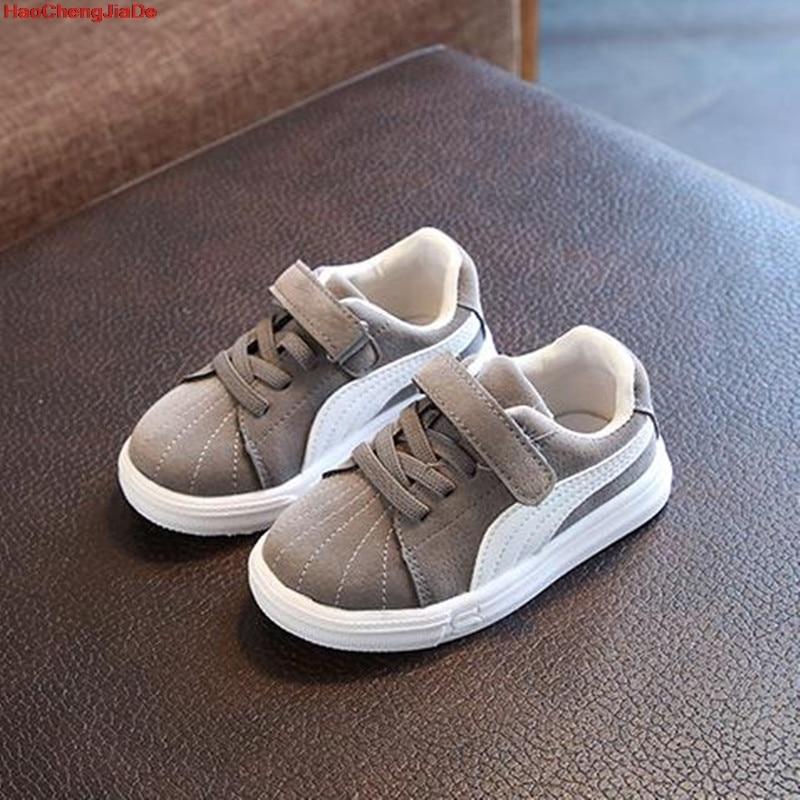 HaoChengJiaDe Kids Children Shoes Antislip Soft Bottom Baby Sneaker Casual Flat Sneakers Shoes Size 21-30 Girls Boys Sport Shoes