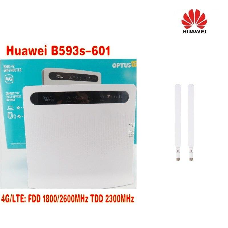 Computer & Büro Kraftvoll Huawei B593s-601 Lte Fdd 1800/2600 Mhz Tdd 2300 Mhz Mobile Hotspot 150 Mbps Drahtlose 4g 3g Wifi Router 2 Stücke 4g Antenne Modem-router-kombi