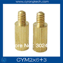 Free shipping M2*6+3mm  cctv camera isolation column 50pcs/lot Monitoring Copper Cylinder Round Screw