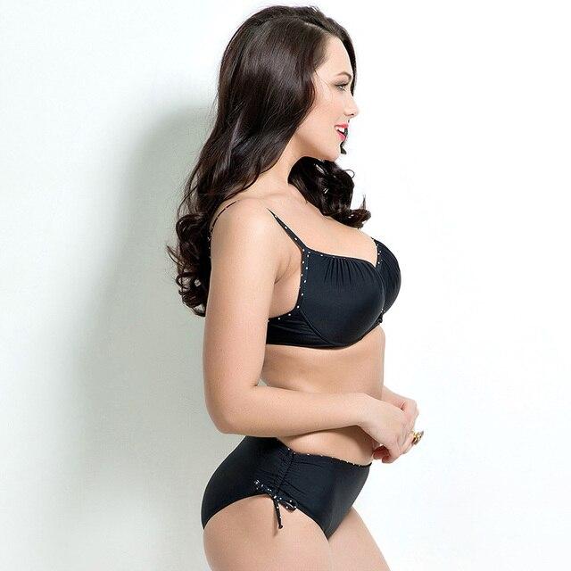 2018 Women Swimwear Sexy Plus Size Swimsuit Fat Wear Plus Size Bikini Set Bathing Suit Push Up Biquini Women Large Cup Bikini 4