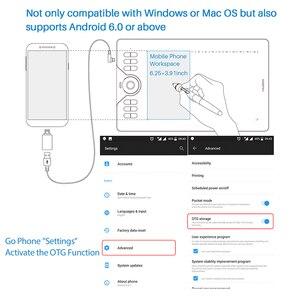 Image 2 - جهاز لوحي للرسم, أجهزة لوحية للرسومات من HUION HS610 مزودة بقلم رقمي على شكل جهاز لوحي للهاتف اللوحي والرسم مزود بقلم إمالة OTG خالٍ من البطارية لنظام التشغيل Android Windows macOS
