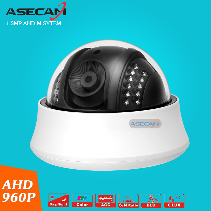 New Product AHD 960P CCTV Camera Indoor Plastic Dome 24LED Infrared Night Vision Security Surveillance AHD-M System new home 2mp hd ahd 1080p camera security cctv white dome 2pcs array infrared night vision surveillance camera ahd h system