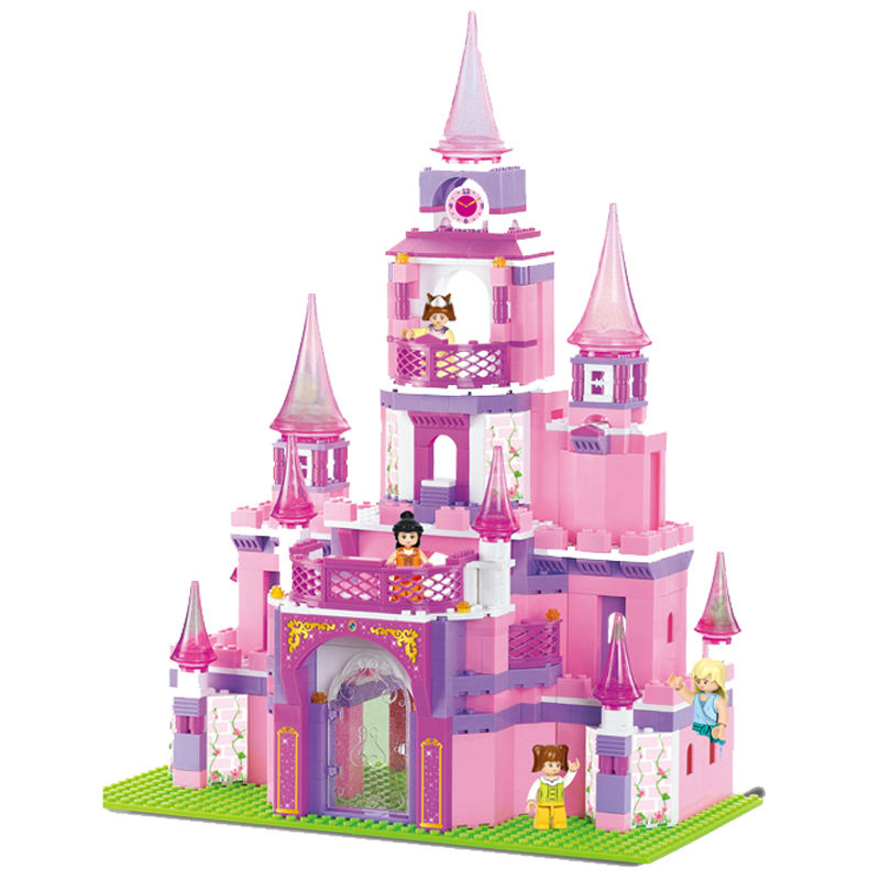 learning & education Banbao Princess series Castle 472pcs Building Block Set Girls Bricks Toy Compatible with Legoeesd
