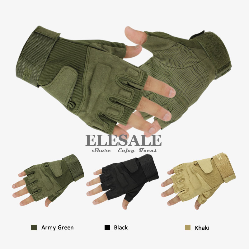 цена New Tactical Training Gloves Half Finger Army Combat Military Gloves For Outdoor Sport Hunt Bicycle CS Paintball