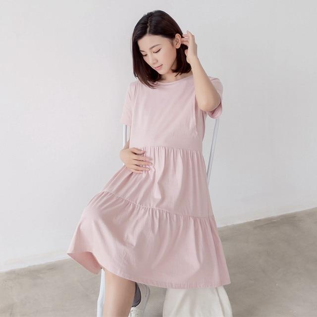ad13545ab 2016 Ropa de Maternidad Del Verano Para Las Mujeres Embarazadas Ropa de  Moda Sueltos Vestidos de