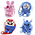 Plush cartoon child satchel cute cartoon Bunny Baby Nursery elastic strap messenger Backpack