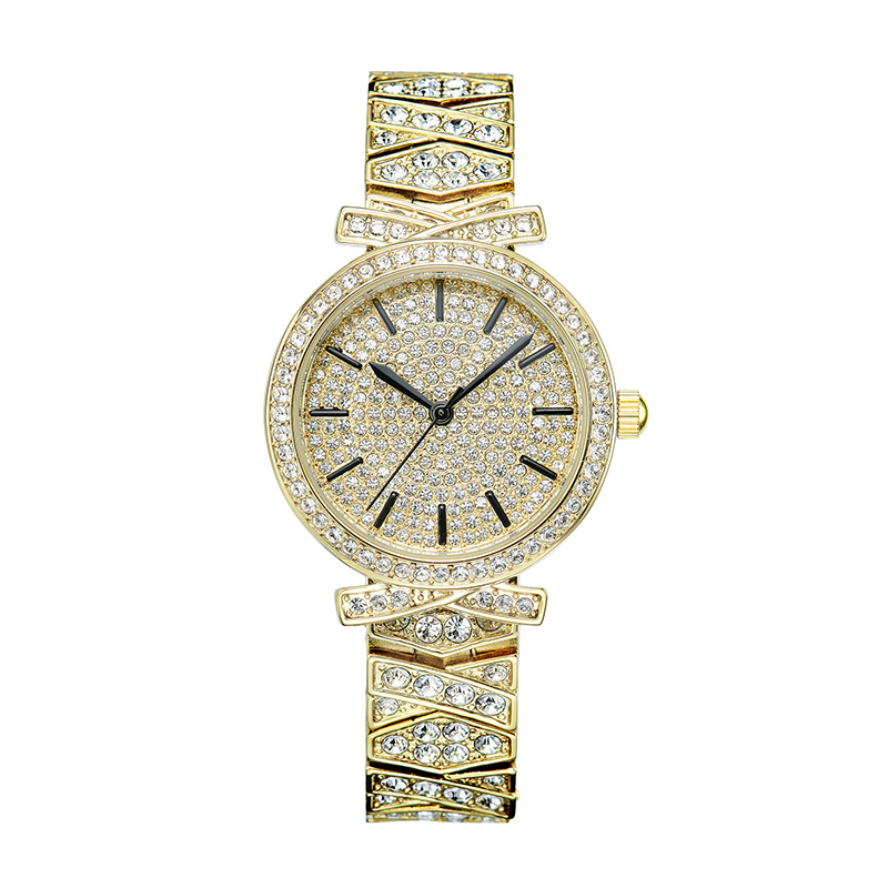 Relogio Feminino Golden Watches Woman Quartz Watch Ladies Fashion Watch Steel Bracelet Full Diamond Top Brand Waterproof Clock onlyou bracelet women watches stainless steel ladies diamond waterproof fashion ladies watch gfit lover quartz watch man clock
