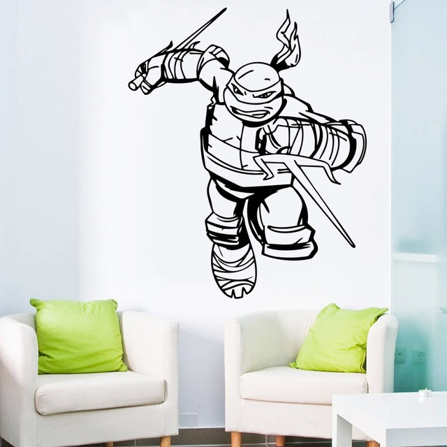 Ninja Turtles Wandtattoo Jungen Schlafzimmer Superhero Wandaufkleber ...