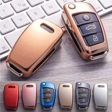 Стильный мягкий чехол из ТПУ для автомобильного ключа для Audi A7 A8 R8 A1 A3 A4 A5 Q7 A6 C5 C6, автомобильный держатель