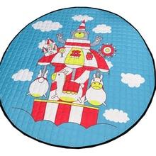 Папа и мима карусель печати синий игрушка сумка для хранения диаметр 1.46 м ребенка ползать многофункциональный круглый одеяло ковер/мат/carpet