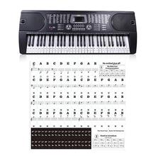 KEEP High Quality Piano Sticker Transparent Keyboard Sticker 49&61 Key Electronic 88 Key Piano Stave Note Sticker For White Keys