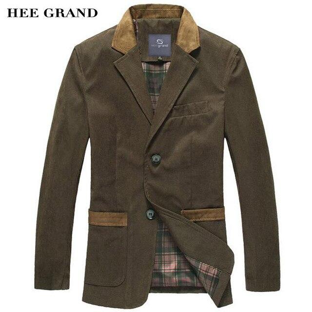 Hee grand chaquetas ocasionales de los hombres 2017 de la venta caliente traje de ocio de moda guarnición delgada blazers solo pecho traje homme mwx351