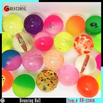 32mm mixed bouncing ball rubber bounce ball toys gift Free Shipping