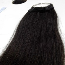 8 дюймов человеческие волосы Цвет кольцо 30 шт./компл. для салона Таблица цвета волос натуральный черный