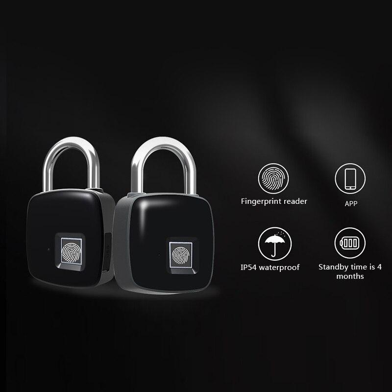 Serrure d'empreinte digitale intelligente Bluetooth sans clé Anti-vol serrure d'empreinte digitale pour casier de valise LE66 - 6