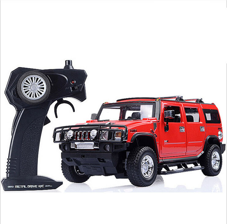 Free Shipping Remote Control Car Hummer H2 Jeep 1 24 Scale Alloy