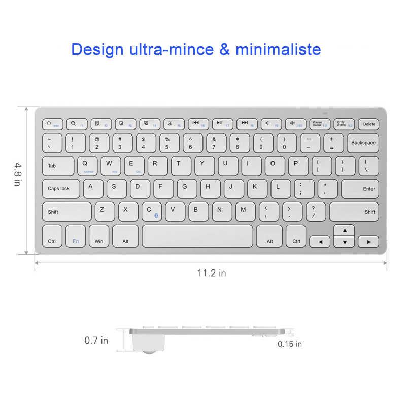 Landas لوحة مفاتيح روسية بلوتوث 3.0 اسبانيا الكورية لوحة المفاتيح العربية ل IOS Andriod هاتف ذكي