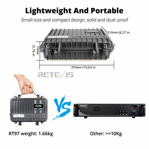 Image 3 - Customizable Full Duplex Mini Analogue Repeater RETEVIS RT97 Two Way Radio Repeater 10W UHF (or VHF) Repeater For Walkie Talkie