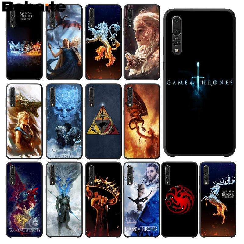 Babaite Game of Thrones Season 8 Black TPU Soft Phone Cover for Huawei Mate10 Lite P20 Pro P9 P10 Plus Mate9 10 Honor 10 View 10 image