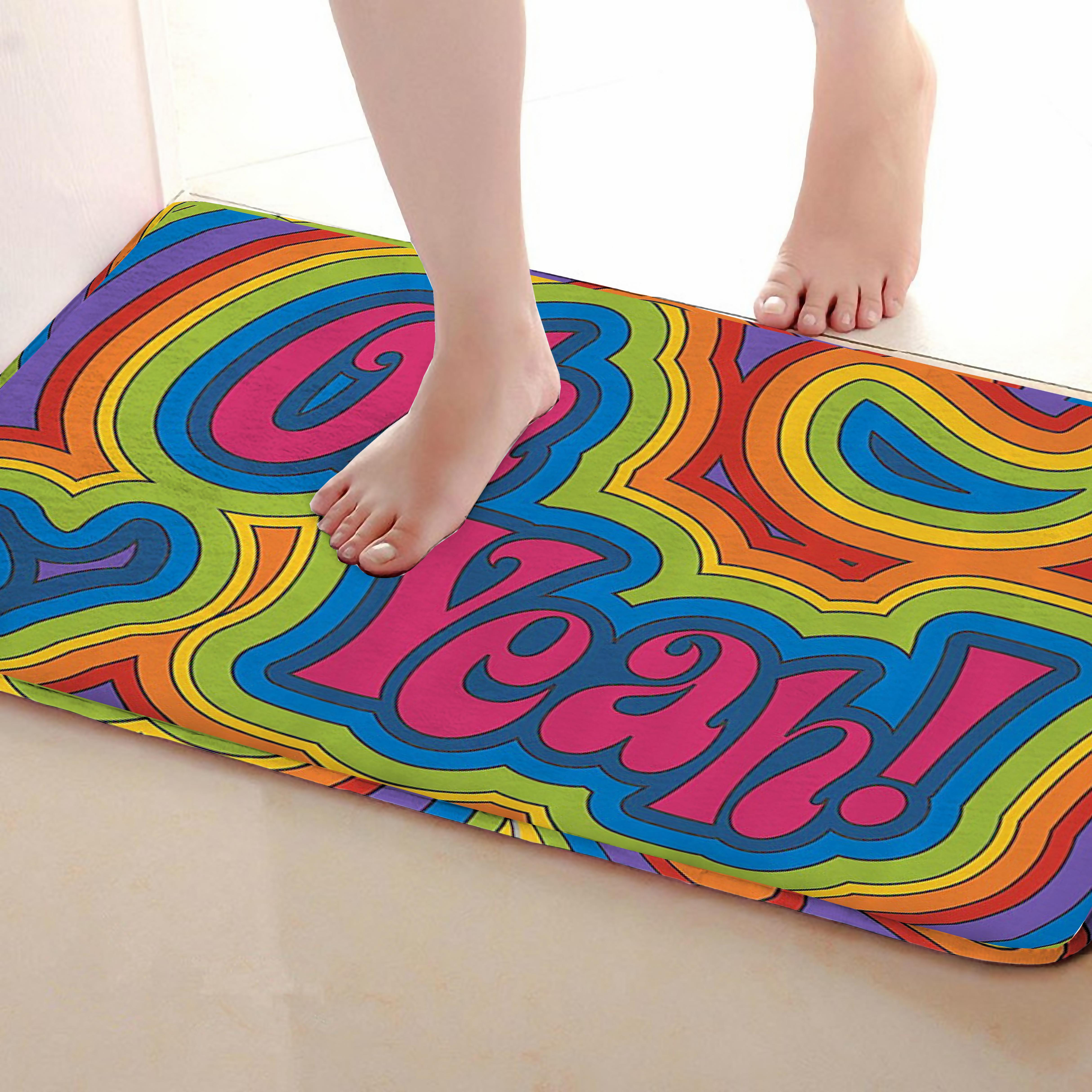 Yeah Style Bathroom Mat,Funny Anti Skid Bath Mat,Shower Curtains Accessories,Matching Your Shower Curtain
