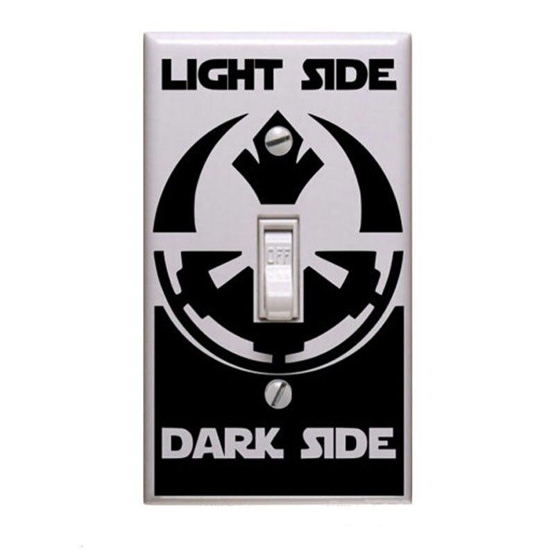 Star Wars Wall Sticker Vinyl Decal Light Switch Sticker Light Side Dark Side Home Garden Children S Bedroom Girl Decor Decals Stickers Vinyl Art