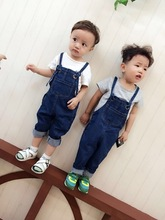 Mother and Kid Matching Denim Overall Jumpsuits