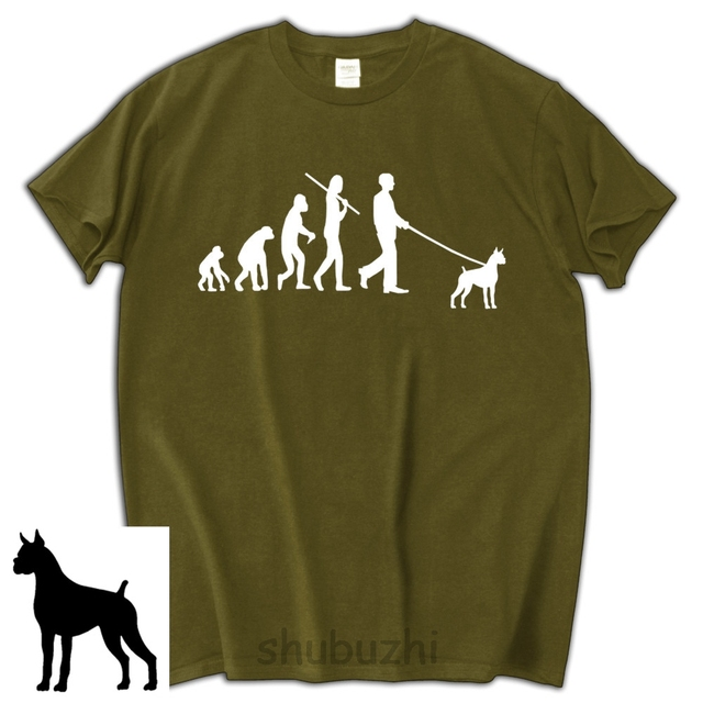 fc71a7833b15 Evolution Boxer dog lover t shirt funny birthday gift for him shubuzhi men  cotton tee shirt fashion brand T-shirt men
