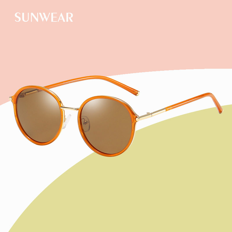 593e49ba99cb Mouse over to zoom in. SUNWEAR 2019 New Luxury Round Women Polarized  Sunglasses Brand ...